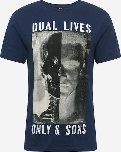 sötétkék / szürke / antracit Only & Sons Póló 'CORN': Elölnézet