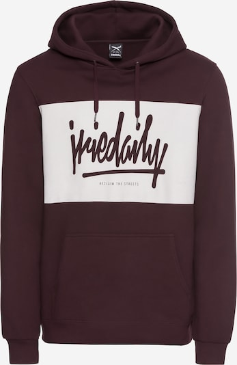 Iriedaily Hoodie 'Tagg Hooded' in creme / bordeaux, Produktansicht