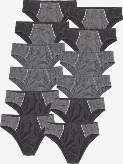 LE JOGGER Slips (12 Stck.) in grau / anthrazit, Produktansicht