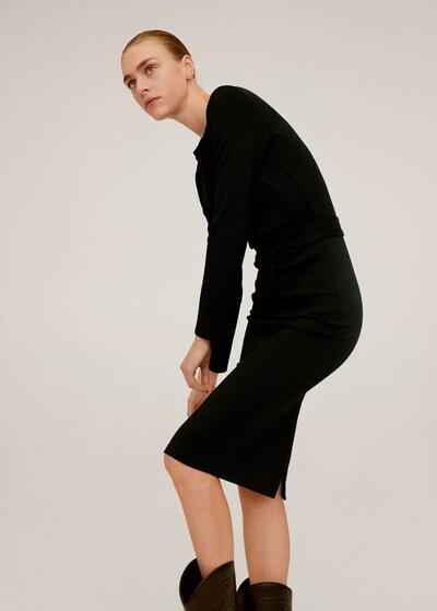 MANGO Kleid 'peto' in schwarz, Modelansicht