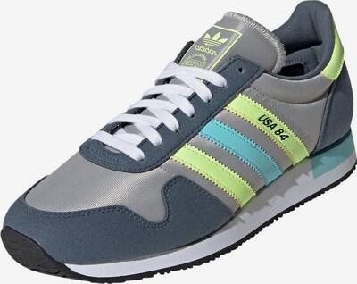 ADIDAS ORIGINALS Schuh 'USA 84' in hellblau / limone / grau / weiß, Produktansicht