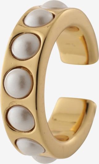 Auskarai 'Chunky Pearl  Single Ear Cuff' iš Orelia , spalva - Auksas / perlų balta, Prekių apžvalga