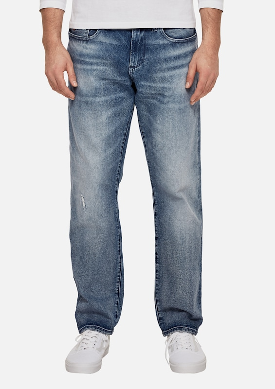 s.Oliver RED LABEL Tubx Straight: Jeans im Used-Look