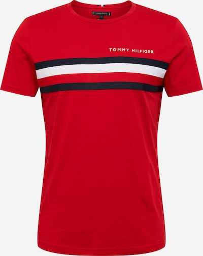 TOMMY HILFIGER Shirt 'GLOBAL STRIPE TEE' in blutrot, Produktansicht