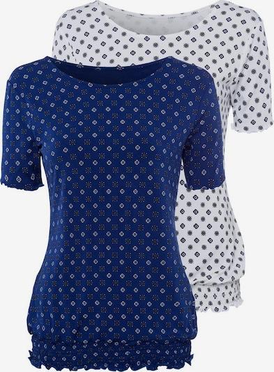 BEACH TIME Тениска в тъмносиньо / светложълто / бяло, Преглед на продукта