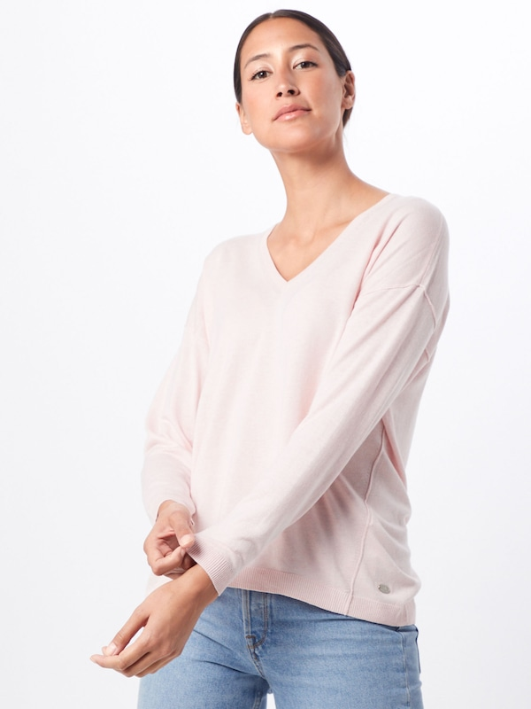 EDC BY ESPRIT Pullover in pink: Frontalansicht
