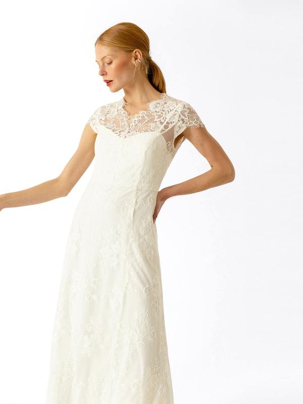 Long' Soirée En Oak Lace De Dress Ivyamp; Blanc 'bridal Robe W2D9IHE