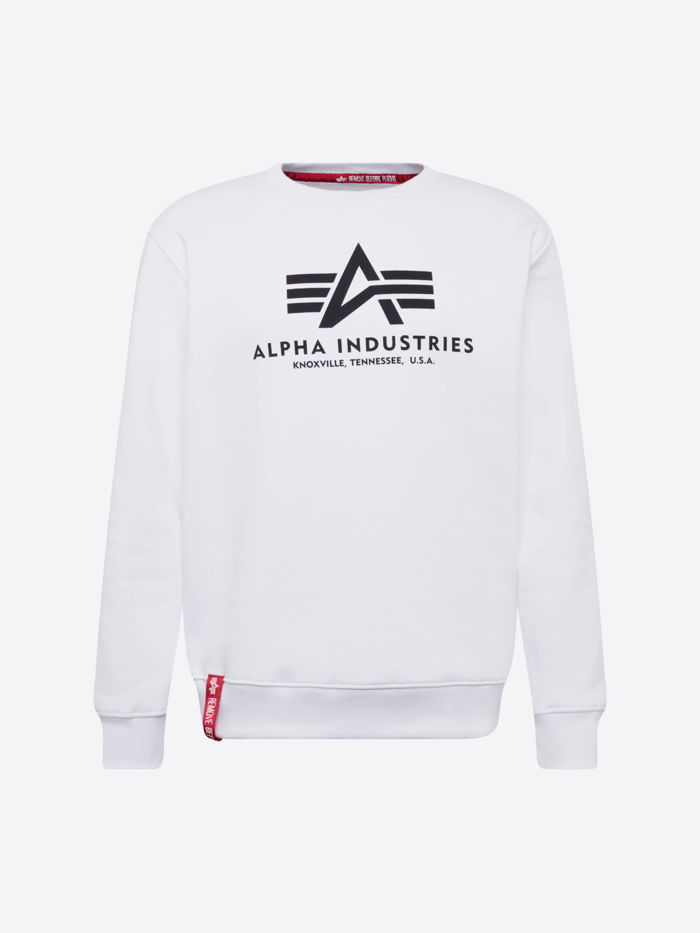 ALPHA INDUSTRIES Sweatshirt i vit