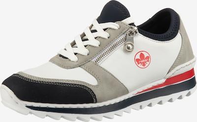RIEKER Sneaker in grau / rot / schwarz / weiß, Produktansicht