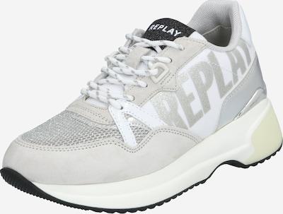 REPLAY Trampki niskie w kolorze srebrny / białym, Podgląd produktu