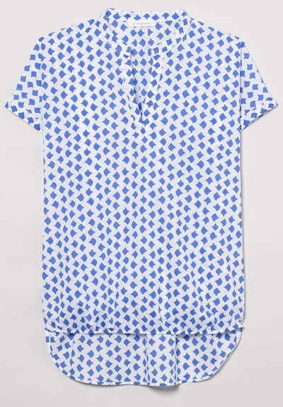 ETERNA Kurzarm Bluse MODERN CLASSIC in blau / weiß, Produktansicht