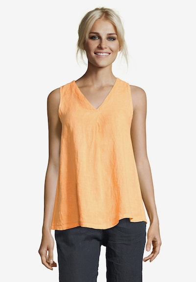 Cartoon Casual-Bluse unifarben in hellorange: Frontalansicht