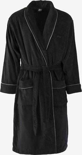jbs Bademantel 'Velour' in schwarz / weiß, Produktansicht