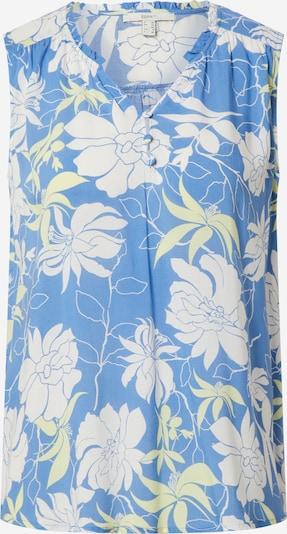 ESPRIT Bluse in hellblau / gelb / weiß, Produktansicht