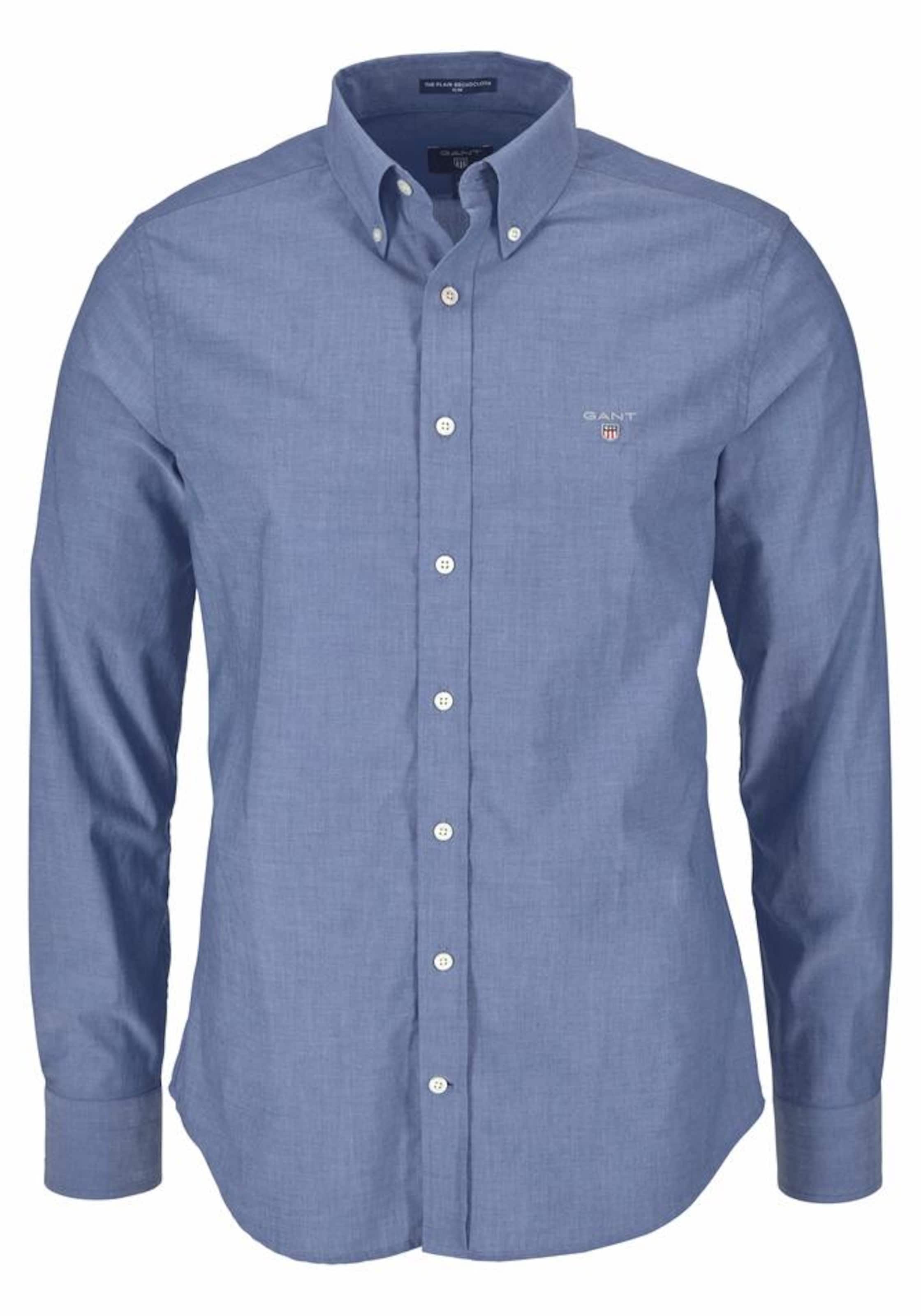 Gant Langarmhemd In Denim Blue Nn0w8PyvmO