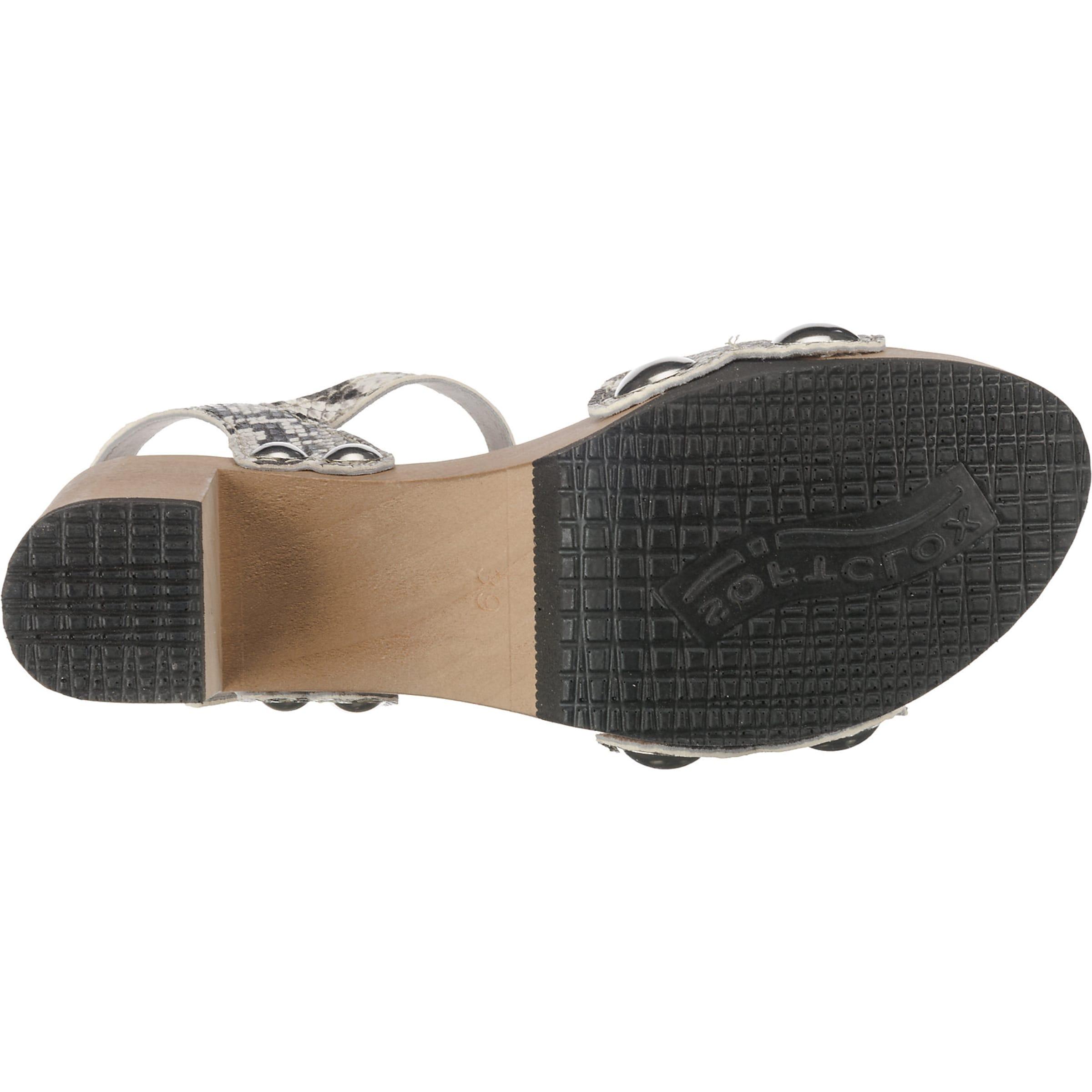 Sandaletten 'eilyn' Weiß Softclox GrauSchwarz In EDeW29YHI