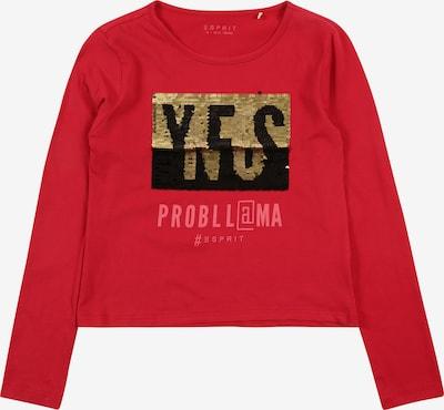 ESPRIT Shirt in gold / rot / schwarz, Produktansicht