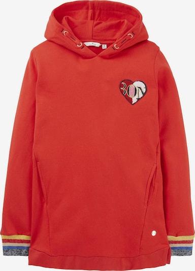 TOM TAILOR Sweatshirt in mischfarben / rot, Produktansicht