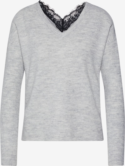 VERO MODA Sweater 'VMRANA LS V-NECK LACE BACK BLOUSE BOO BF' in Light grey, Item view