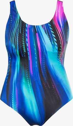 Ulla Popken Jednodielne plavky 'Lichtschau' - modré / čierna, Produkt