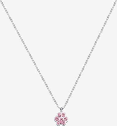 ELLI Kette 'Pfote' in pink / silber, Produktansicht