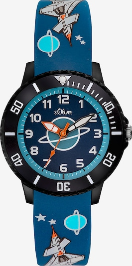 s.Oliver Uhr in himmelblau / schwarz, Produktansicht