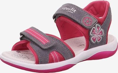 SUPERFIT Sandales 'Sunny' en gris chiné / rose néon, Vue avec produit