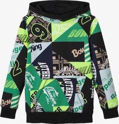 NAME IT Sweatshirt in azur / grün / kiwi / schwarz, Produktansicht