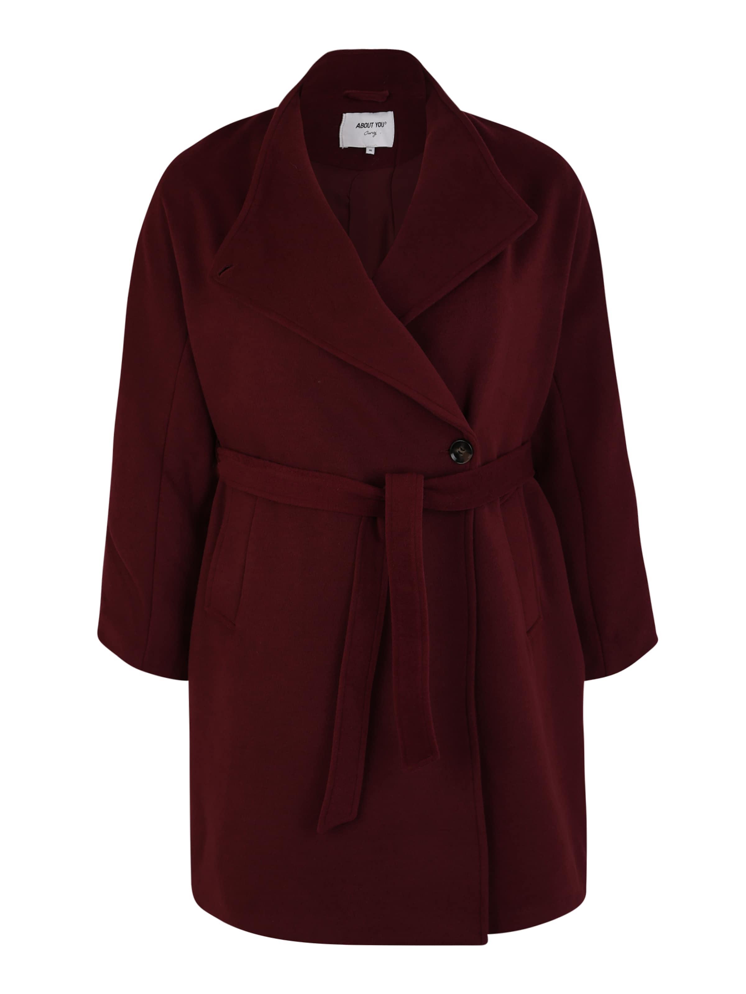 ABOUT YOU Curvy Övergångskappa 'Charis Coat' i burgunder