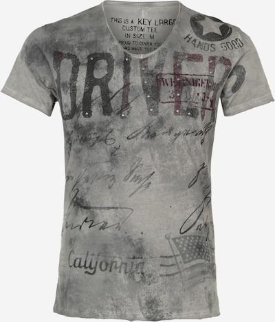 Key Largo T-Shirt 'Driving' in silbergrau, Produktansicht