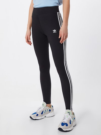ADIDAS ORIGINALS Leggings in schwarz / weiß, Modelansicht