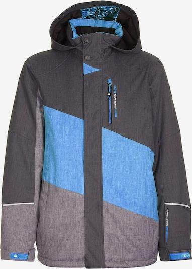 KILLTEC Skijacke 'Tamer' in hellblau / grau / dunkelgrau: Frontalansicht