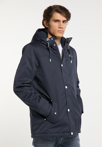 ICEBOUND Winterjas in de kleur Navy: Vooraanzicht