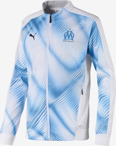 PUMA Jacke 'Olympique de Marseille' in hellblau / weiß, Produktansicht