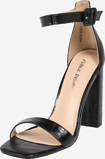 Public Desire Sandały 'CLEO' w kolorze czarnym, Podgląd produktu