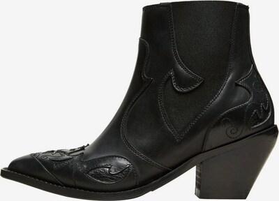 SELECTED FEMME Bottes de cowboy en noir, Vue avec produit
