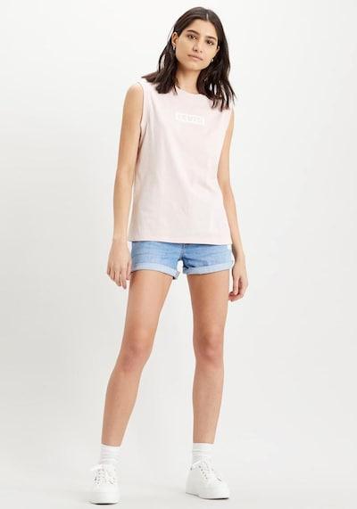 LEVI'S Shorts '501® SHORT LONG' in blue denim, Modelansicht