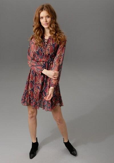 Aniston CASUAL Kleid in mischfarben / rot, Produktansicht
