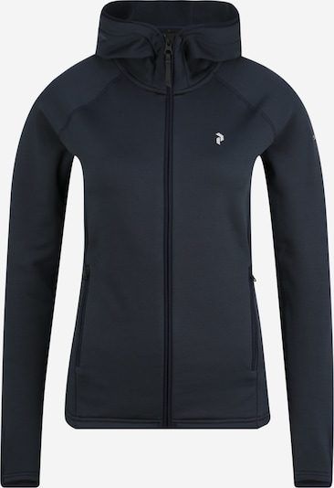 PEAK PERFORMANCE Functionele fleece jas 'CHILL LH' in de kleur Zwart, Productweergave