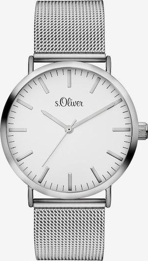s.Oliver Armbanduhr in silber / weiß, Produktansicht