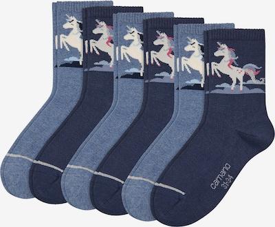 camano Socken in beige / blau, Produktansicht