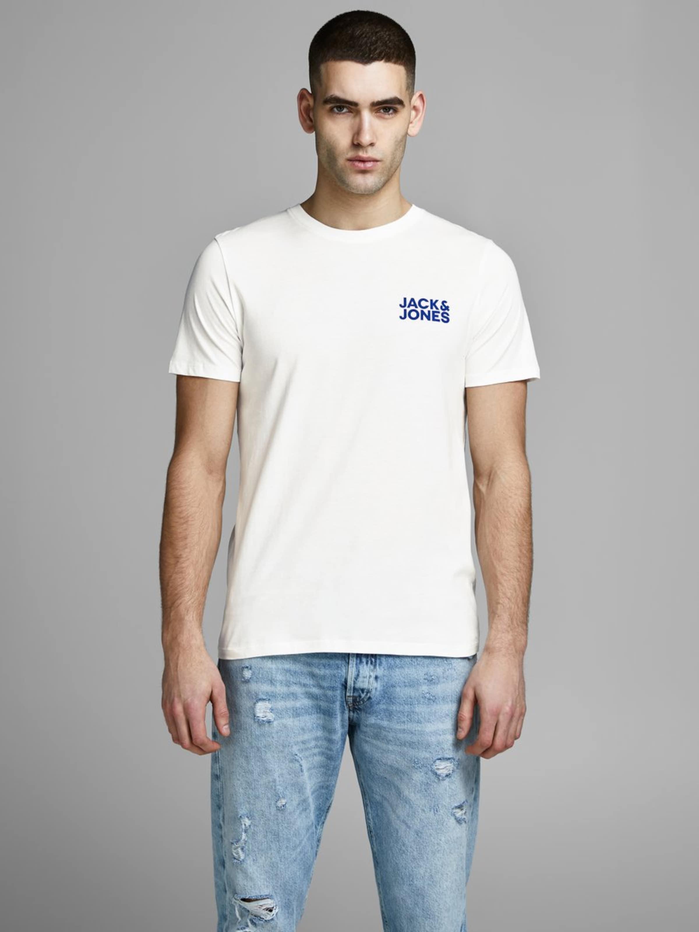 Jackamp; Bleu T shirt FoncéBlanc Jones En nv8mwNO0
