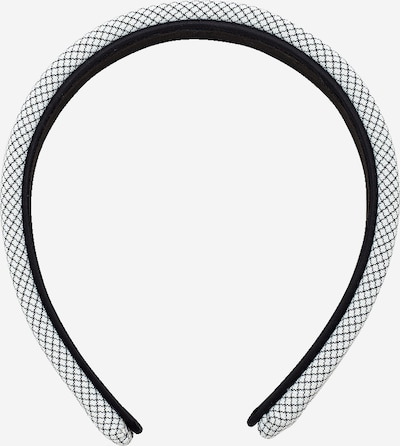EDITED Hårsmycke 'Hallie' i svart / vit, Produktvy