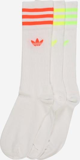 ADIDAS ORIGINALS Socken 'Solid Crew' in gelb / orange / weiß, Produktansicht