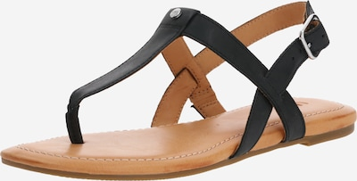 Šlepetės per pirštą 'W DINUBA' iš UGG , spalva - smėlio / juoda, Prekių apžvalga