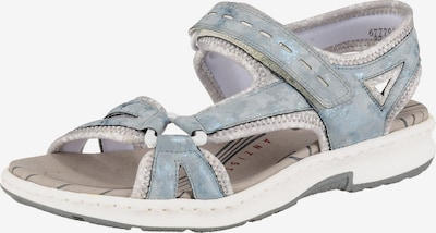 RIEKER Sandaal in de kleur Duifblauw / Zilver: Vooraanzicht