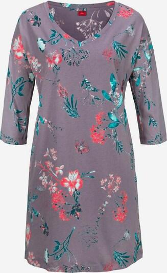 s.Oliver Nachthemd in de kleur Blauw / Sering / Rood, Productweergave