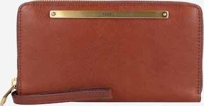 FOSSIL Portemonnaie 'Liza' in braun / gold, Produktansicht