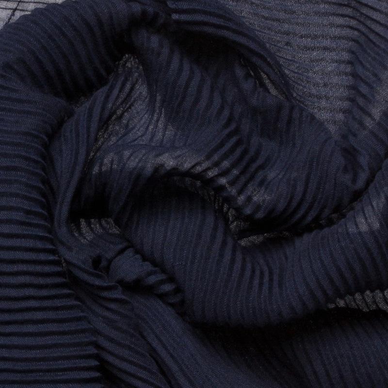 CODELLO Zarter Schal mit Plissee
