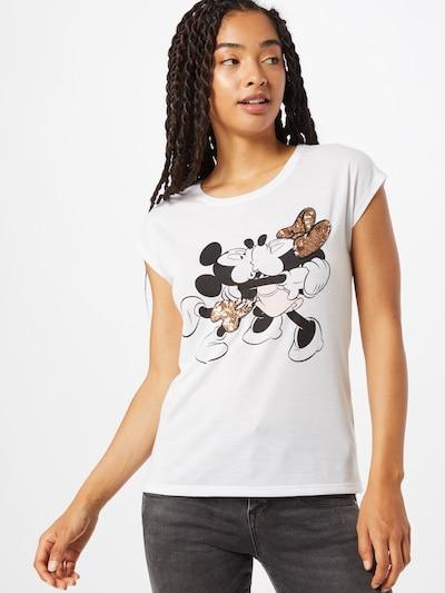 Hailys T-Shirt in mischfarben / weiß: Frontalansicht